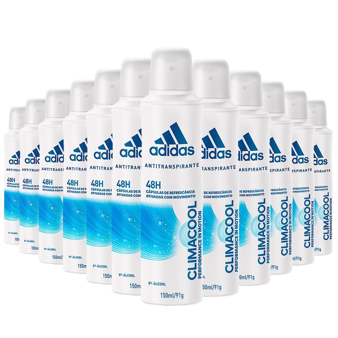 3005f7796 12 desodorantes aerosol adidas climacool feminino 150ml. Carregando zoom.