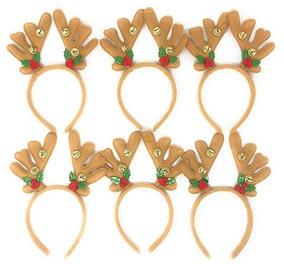 410be1367 12 Diademas De Reno Venado Para Navidad Fiesta Posada Sea Vi