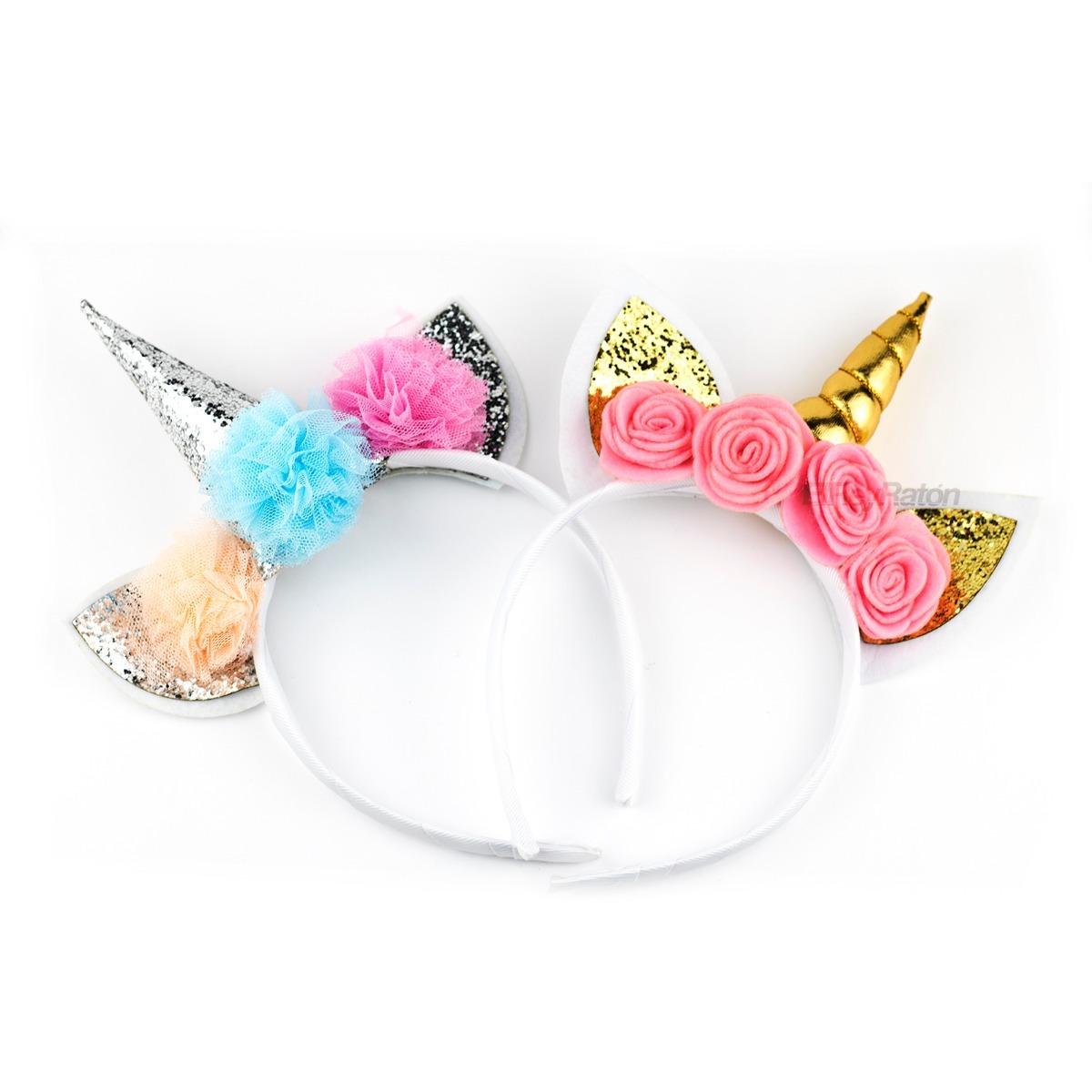 12 diademas unicornio para fiestas y eventos cumplea os en mercado libre - Material para hacer diademas ...