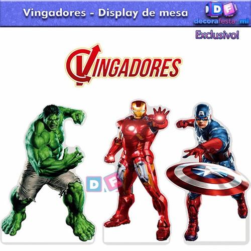 12 display mdf vingadores centro mesa festa hulk promoção