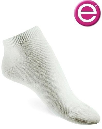 (12) doce  medias tobilleras blancas