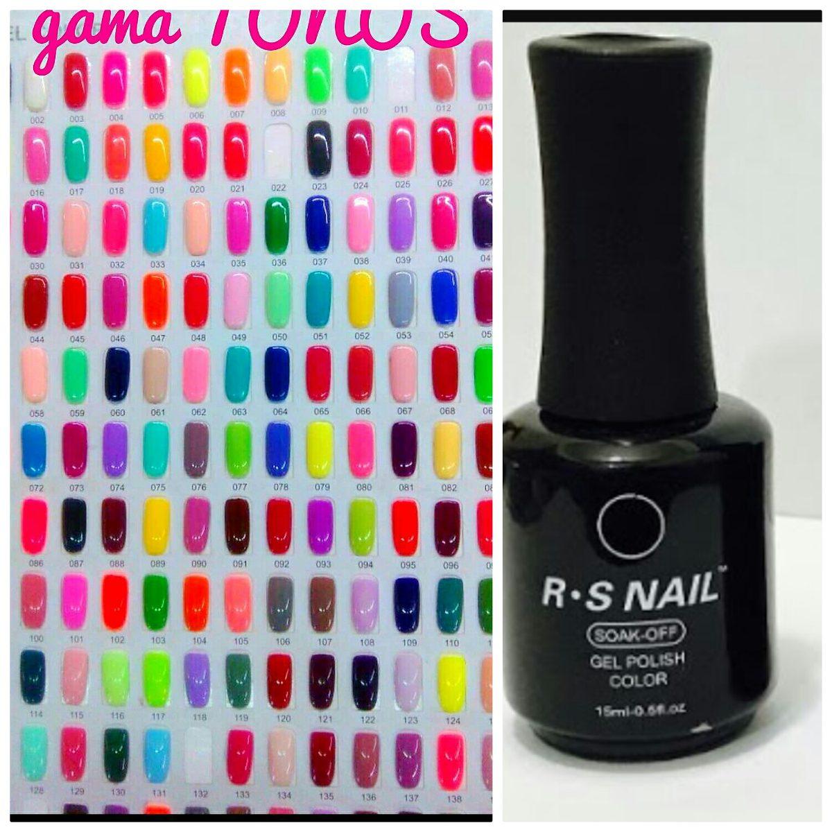 Rs Nail: 12 Esmaltes Gel 21 Dias Gelish Uñas Rs Nails 15ml