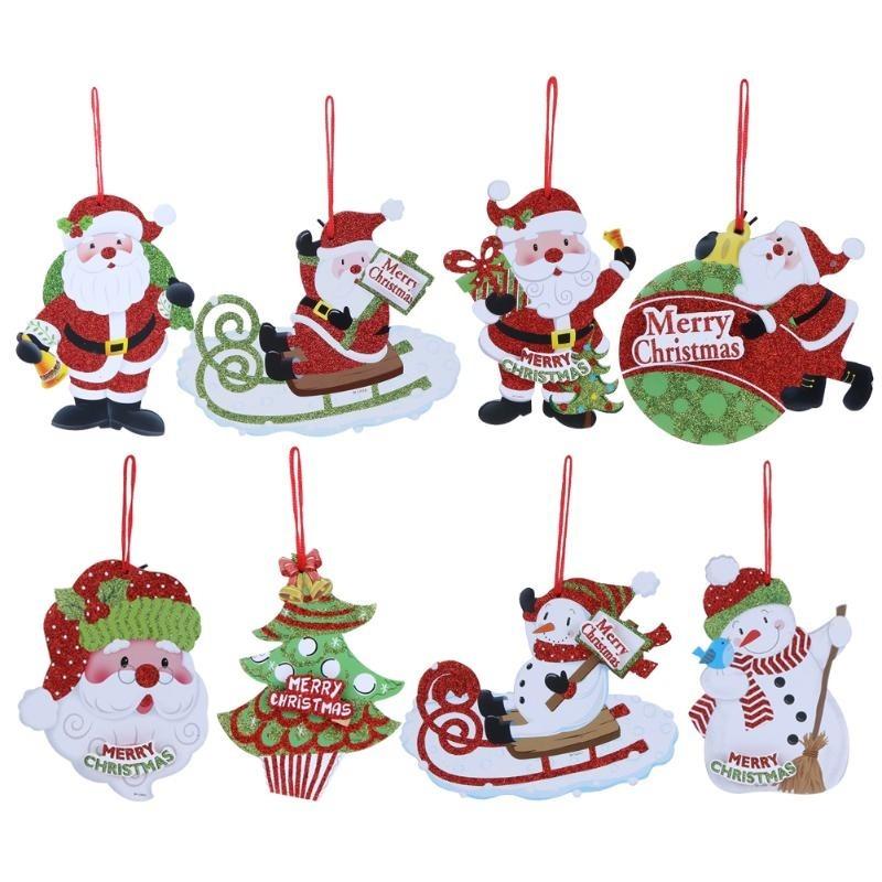 12 figuras navidad adornos navide os colgantes santa claus - Videos de adornos navidenos ...