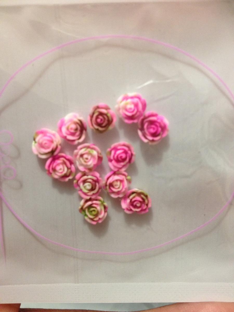 12 Flores 3d De Acrilico Para Decoracion Unas Gelish 55 00 En
