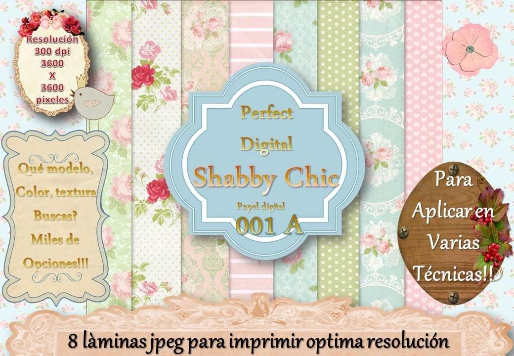 12 Fondos Shabby Chic Candybar Vintage Rosas Decoupage 2x1