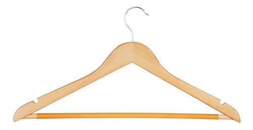 12 ganchos para traje color madera natural honey can do