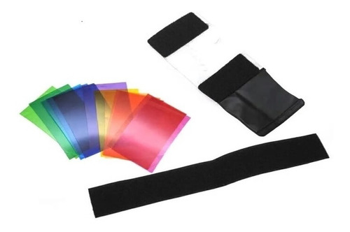 12 gelatina colorida para flash canon nikon speedlight
