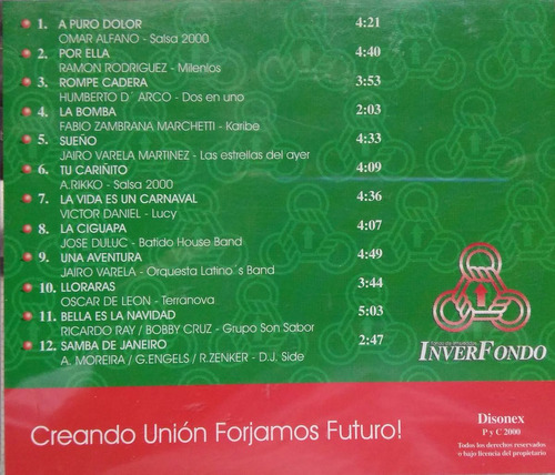 12 grandes temas navideños cd musica artists originales