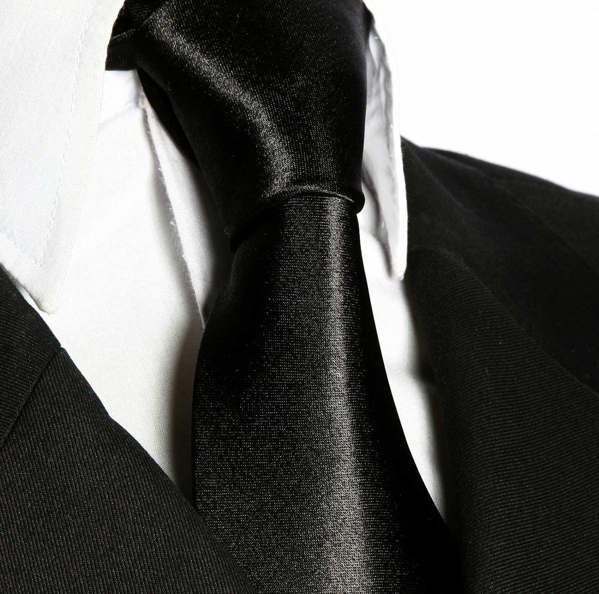 b99b08f531a 12 gravatas semi slim preta lisa sem nó. Carregando zoom.