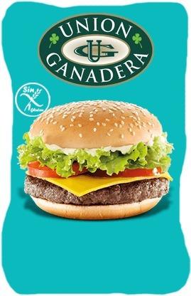 12 hamburguesas gigantes swift x109grs + pan + aderezo