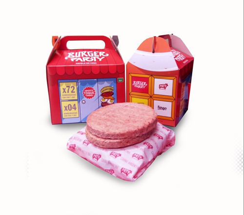 12 hamburguesas paty 80 gr + pan fargo + aderezo