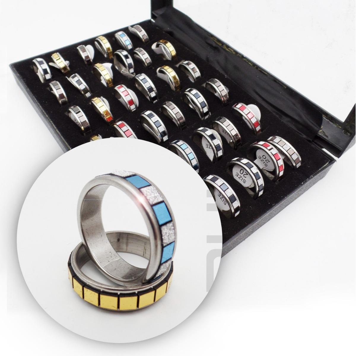 aa74f9977b7f 12 hermosos anillos acero quirurgico facetado colores xmayor. Cargando zoom.