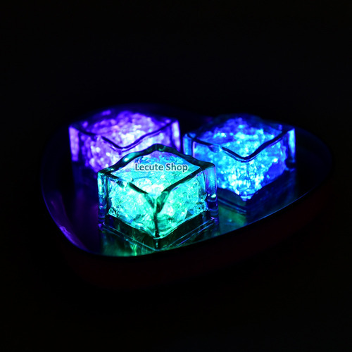 12 hielos luminosos multicolor led luz activan con agua
