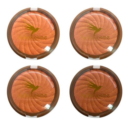 12 iluminador pó bronzeador efeito iluminado 4 tonalidades