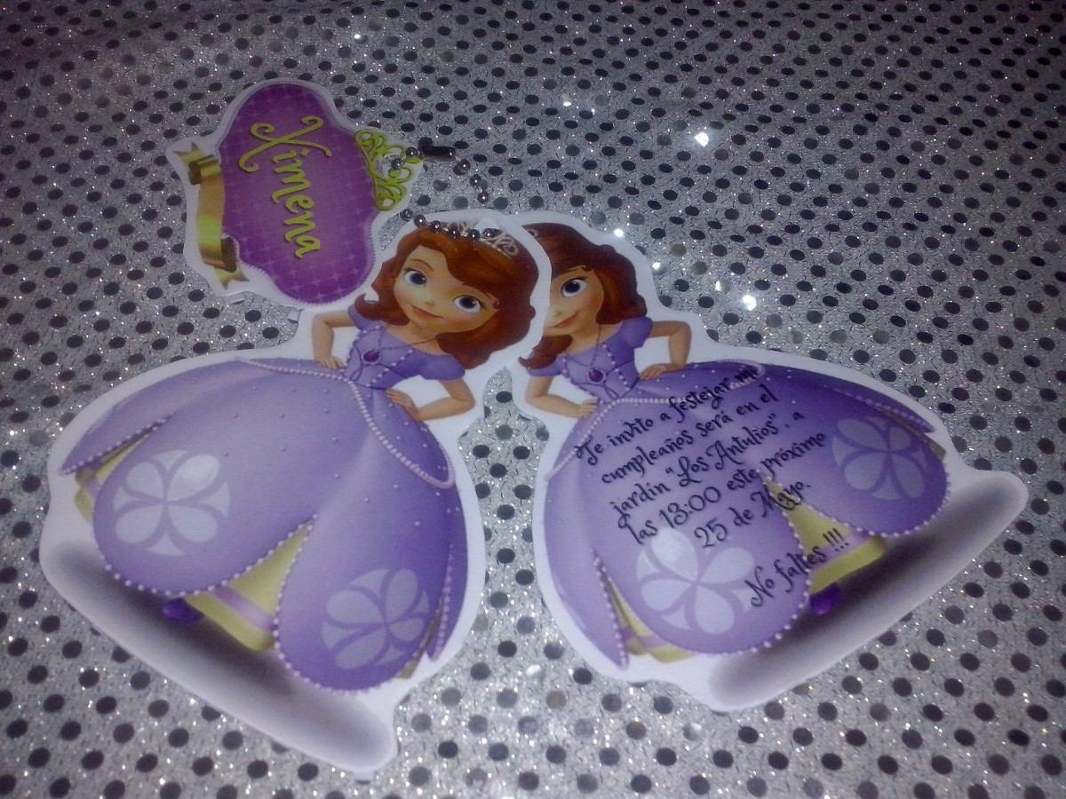 12 invitacion con princesa sofia