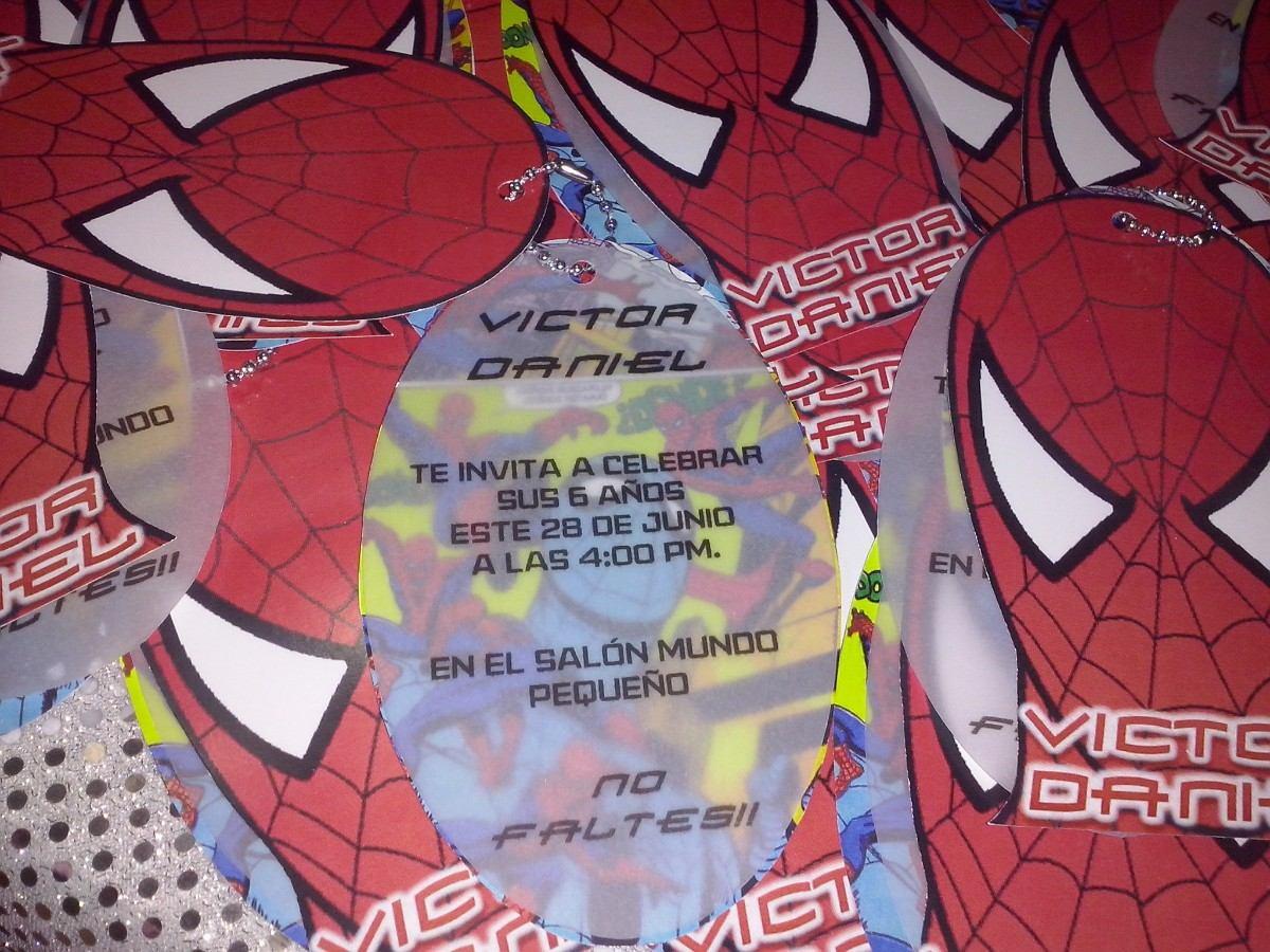 12 Invitacion Hombre Araña