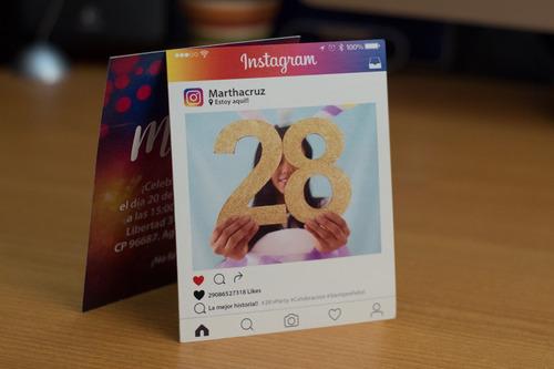 12 invitaciones postal instagram - facebok - whatsapp