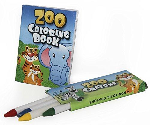 12 Juegos De Zoo Libros Para Colorear Y Lápices De Colores ...