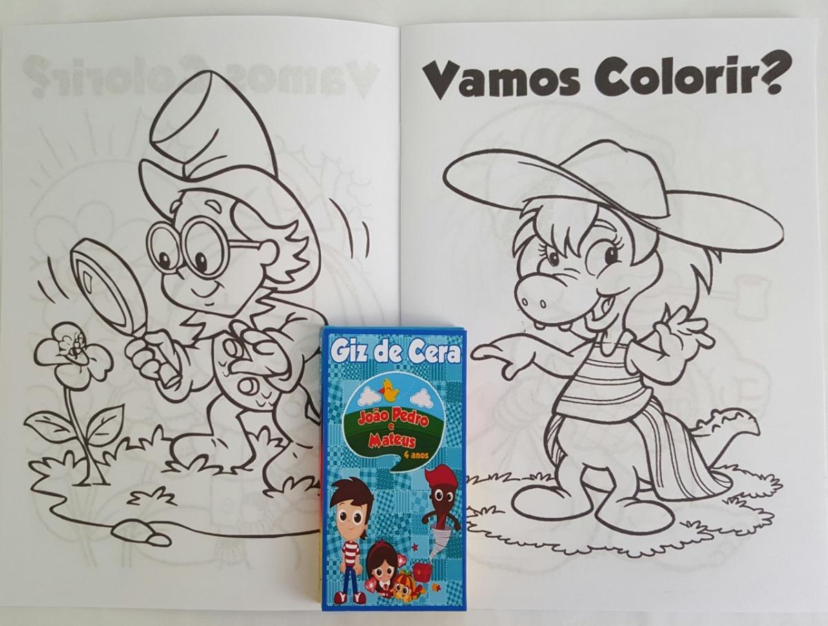 12 Kits Colorir Massinha Sitio Do Pica Pau Amarelo R 105 60