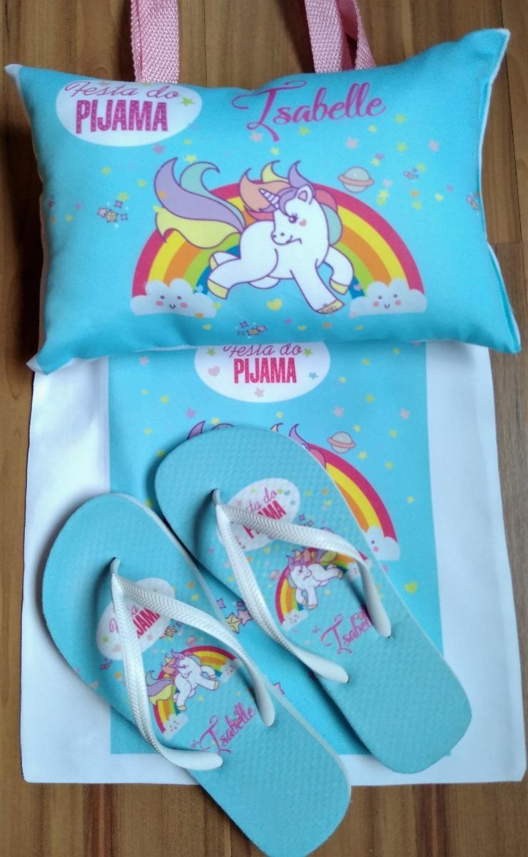 82a1a8e4d8fb54 12 Kits Festa Do Pijama Com Chinelo+máscara+bolsa+almofada
