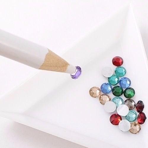 12 lápis pega pedra strass cristal pérolas decoração tips