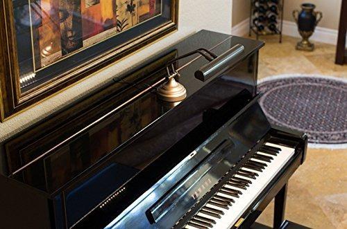 12 led piano lámpara de escritorio con luces de bronce aceit