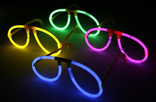 12 lentes neon glow fosforescentes fiestas led party dj