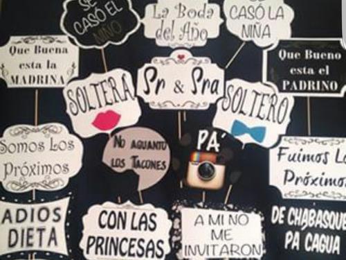 12 letreros para selfies,  photobooth, prop
