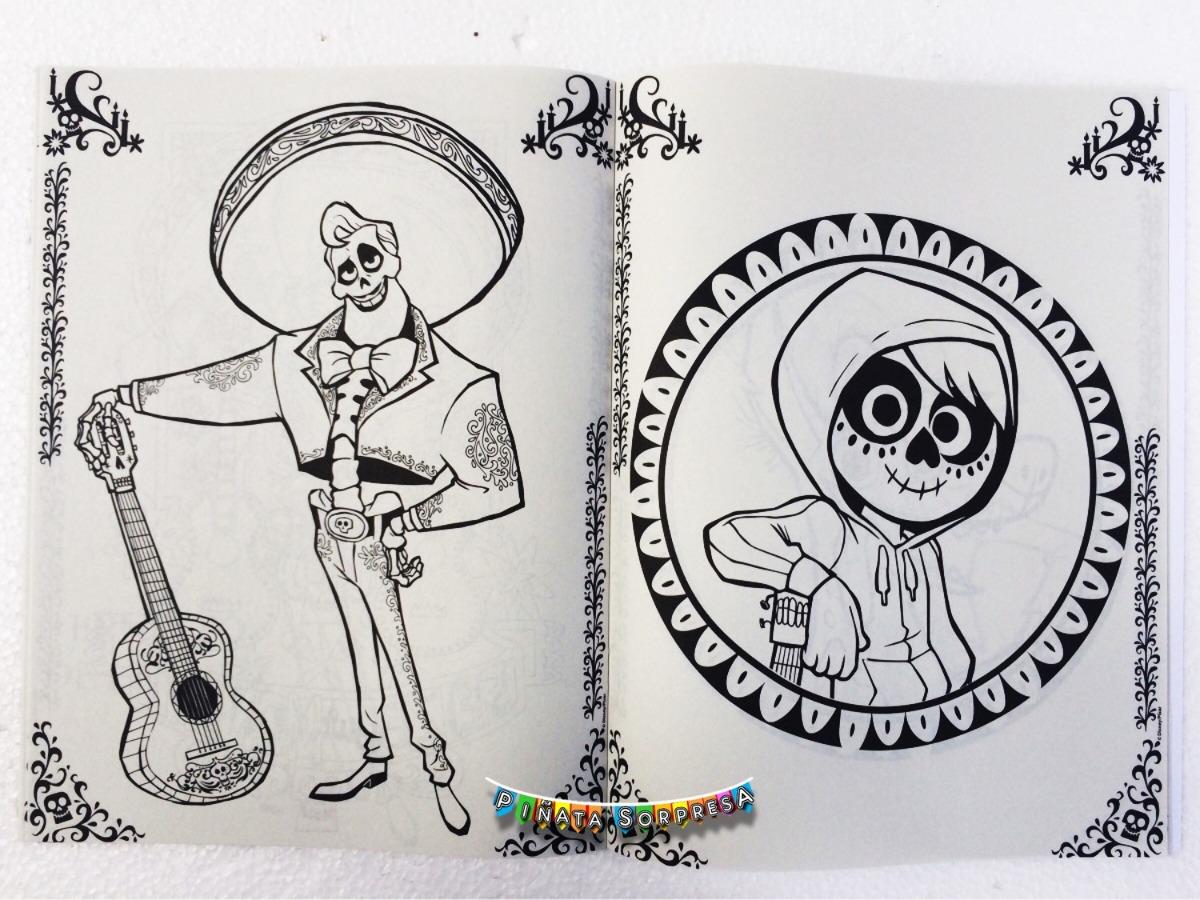 Miguel Coco Para Colorear: 12 Libro Coco Disney Juguete Piñata Fiesta Bolo Regalo