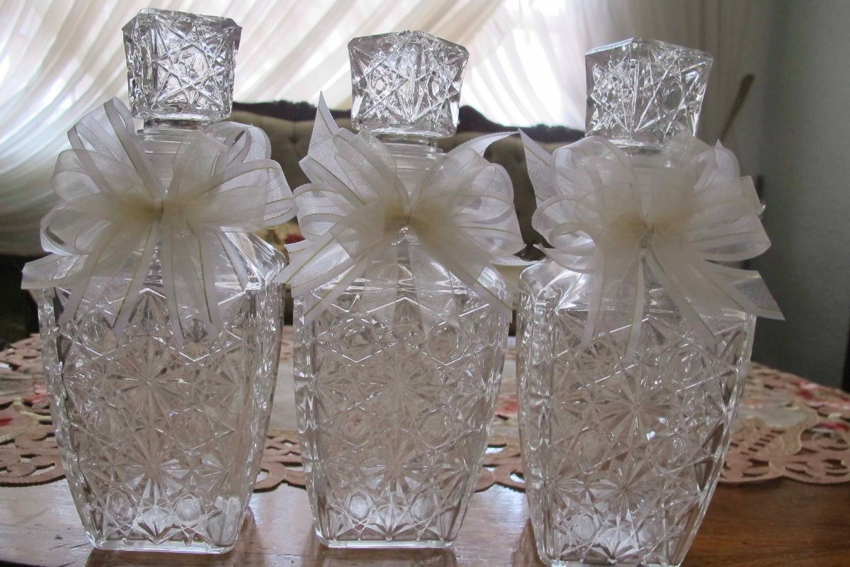 12 licoreras de cristal recuerdos para boda xv a os - Cosas que preparar para una boda ...