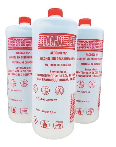 12 litros alcohol 96° g etilico puro envío grátis a todo mx