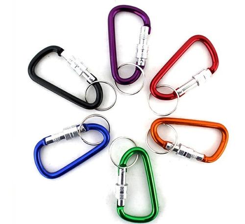 12 llaveros clip arnés mosquetón colores surtidos