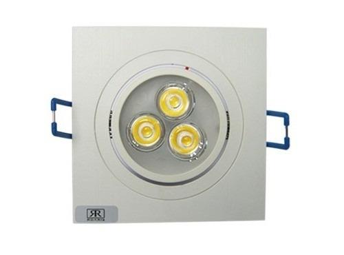 12 lâmpada super led 3w spot quadrado embuti quente frio