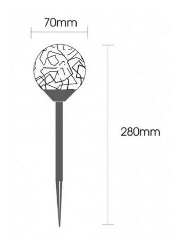 12 luminária solar balizador globo inox multicor decoração