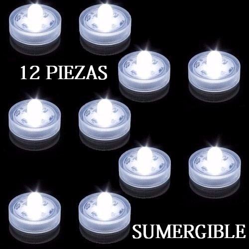 12 Luz Led Para Agua Led Sumergibles Centros Mesa 125