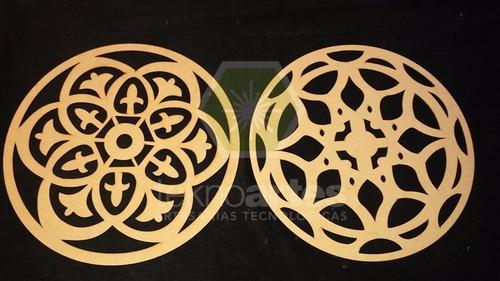 12 mandalas de mdf fibrofacil 3mm calados de 20cm
