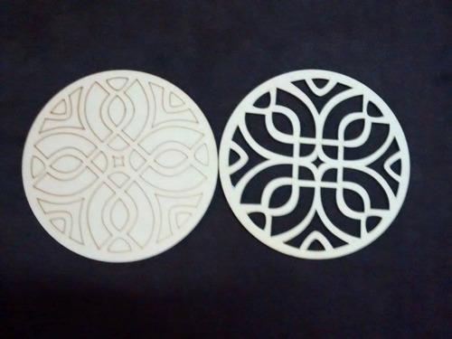 12 mandalas de mdf fibrofacil 3mm grabados de 20cm