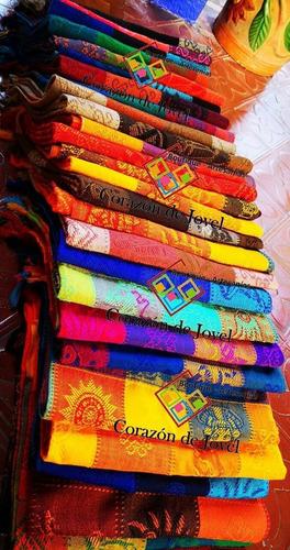 12 manteles artesanales/ mexicanos para mesa de 4 sillas