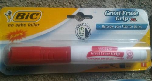 12 marcadores nuevos bic, para pizarron blanco, color rojo