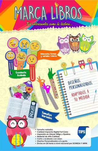 12 marcalibros personalizados full color, para lectores