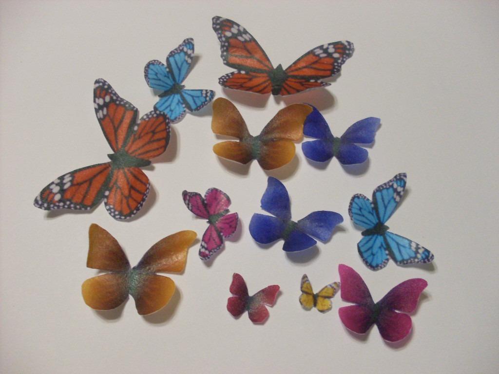 12 mariposas 100 oblea comestibles para decorar au1 en mercado libre - Mariposas para decorar ...