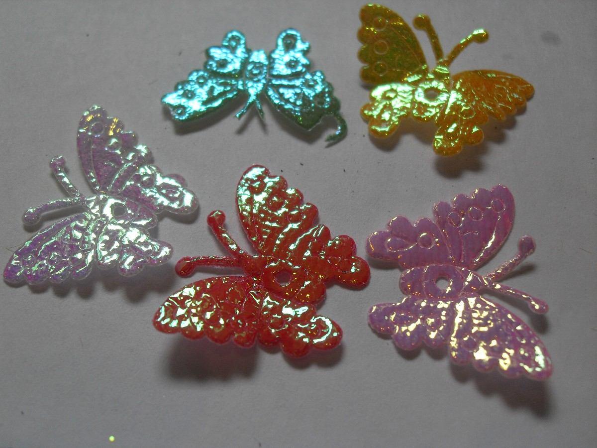 12 mariposas de tela para manualidades jabones lazos - Como hacer manualidades de tela ...