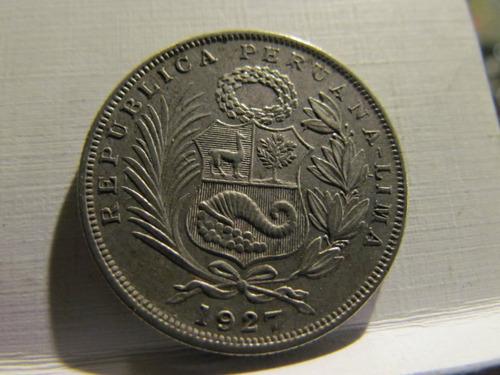 1/2 medio sol  peru 1927 lima 30 milimetros