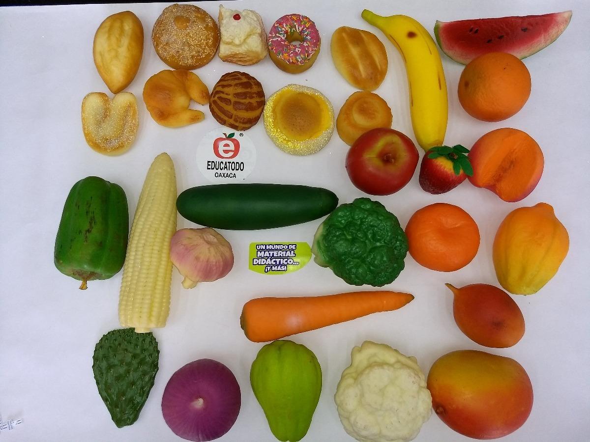 12 Miniaturas 100% Reales  Pan, Fruta O Verdura Por Pieza