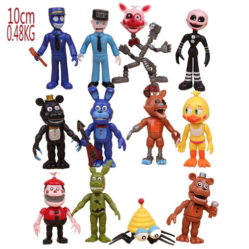12 muñecos  five nights at freddy's articulado y accesorios