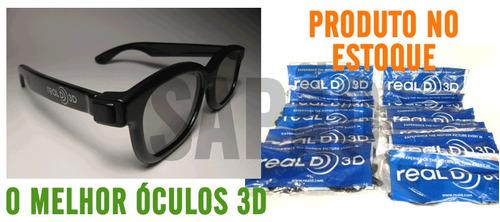 12 oculos 3d passivo reald polarizado para tv frete gratis