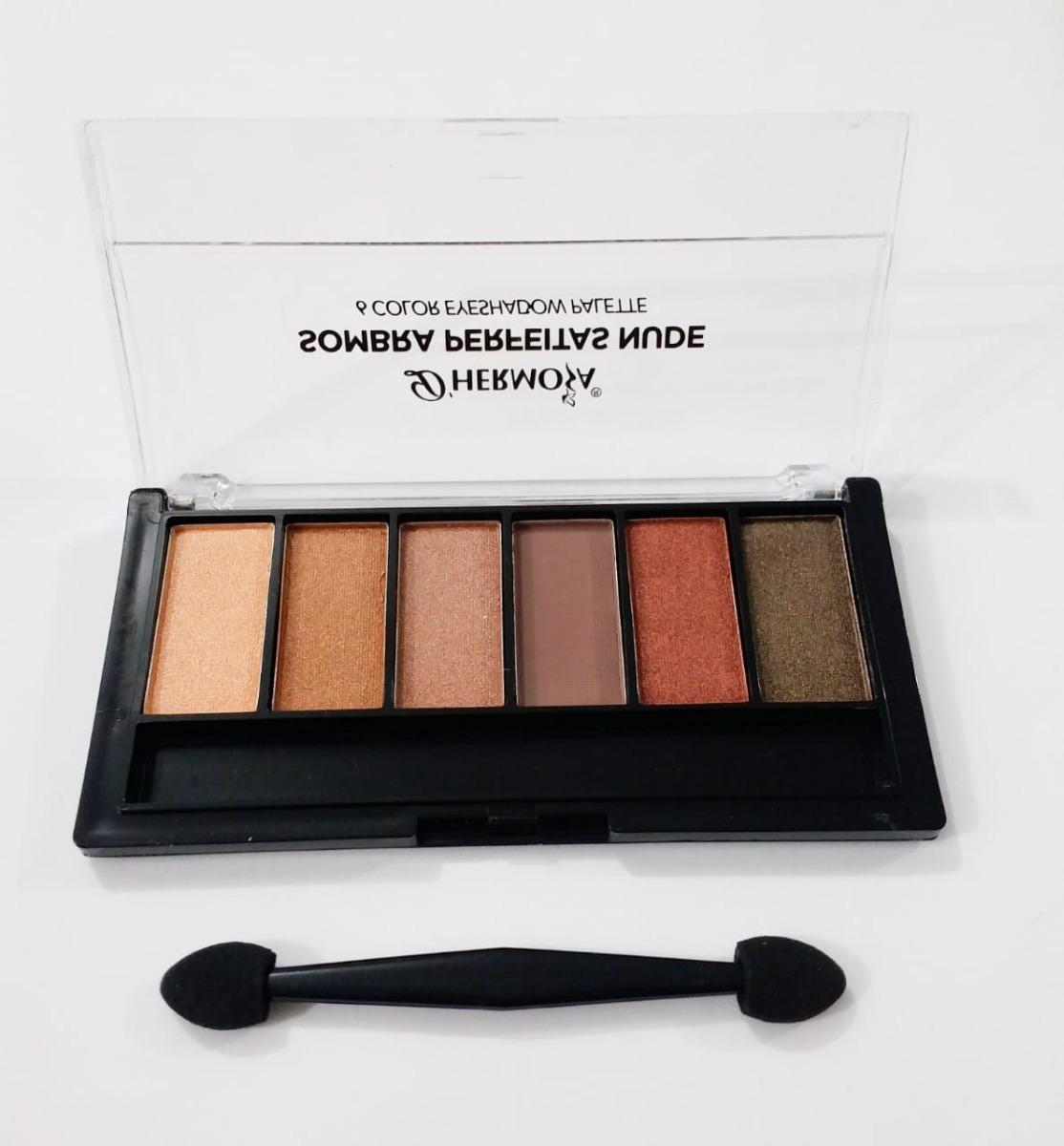 12 Paletas Sombra Matte Nude Maquiagem 6 Cores - R$ 104,99