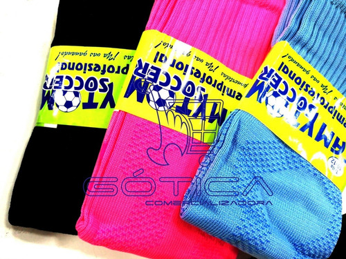12 pares de medias fútbol fina colores de moda
