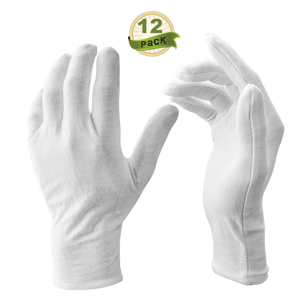 Amuzocity 1 Par de Guantes de Costura Blanco Verde De Forma Ajustada Espec/íficamente Dise/ñados para Quilters M/áquina