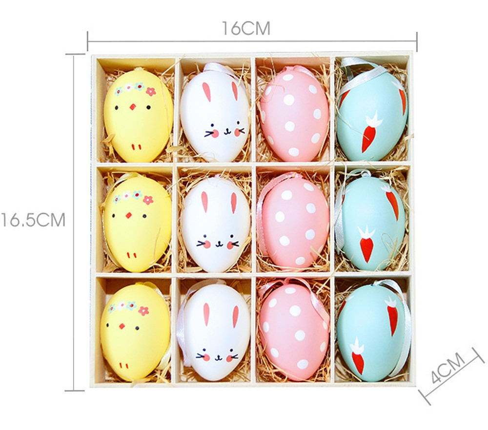 12 Pc Colorido Bebe Crianca Desenho Pintura Ovos De Pascoa C R